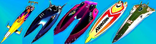 A Selection of Boats from HYDRO THUNDER!!