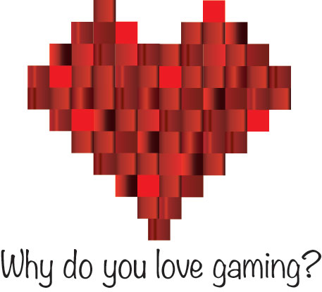 a pixelated heart