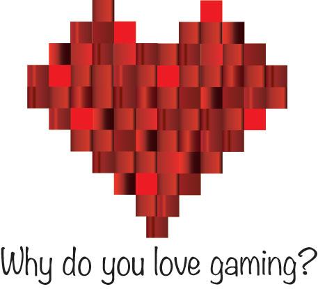 a pixelated heart